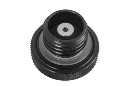 Custom Aluminum Gas Cap - Flat Top - Black - Vented