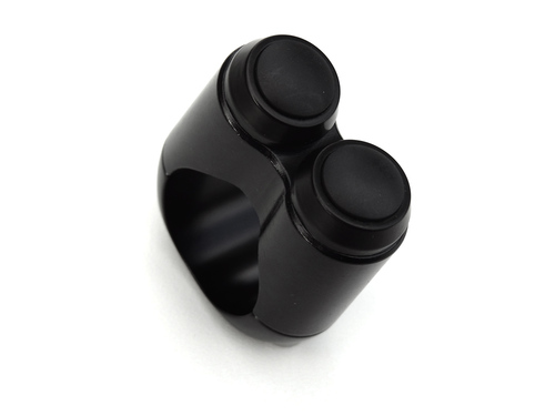 Dual Button Microswitch for One Inch Handlebar - Black