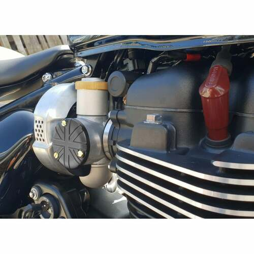 TPS Carb/Throttle Body Cover - Pair - Union Jack - Black