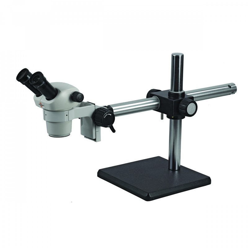 ACCU-SCOPE 3072-13-BS Binocular Stereo Microscope on Boom Stand, 10x & 30x Magnification