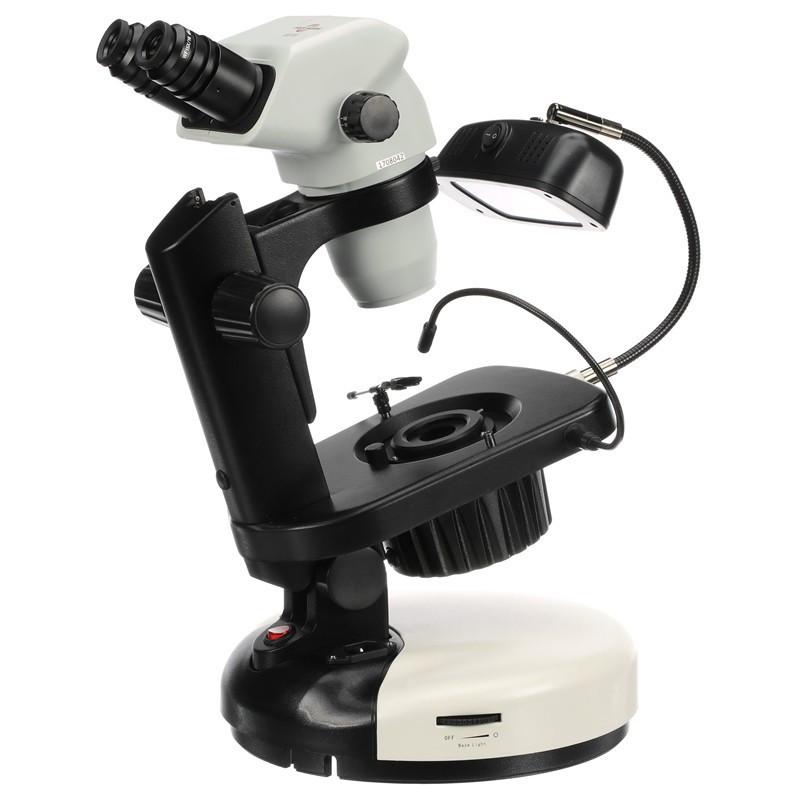 ACCU-SCOPE 3076-GS Trinocular Zoom Stereo Gemological Microscope, 10x - 67.5x Magnification