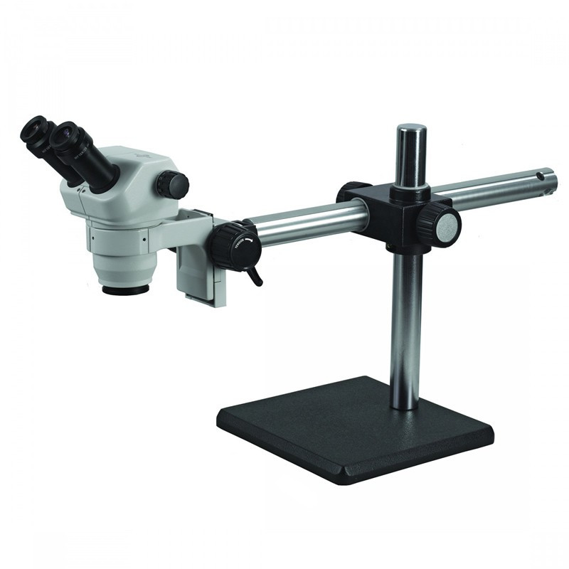 ACCU-SCOPE 3078-BS Binocular Zoom Stereo Microscope on Boom Stand, 8x - 35x Magnification