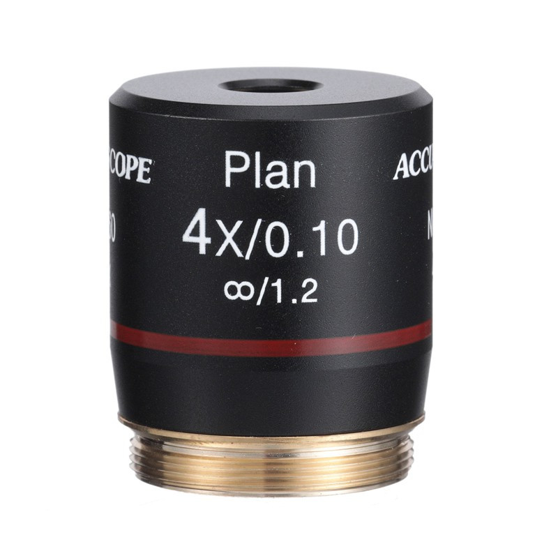 ACCU-SCOPE 410-3173-PL 4x LWD Infinity Plan Objective for EXI-410