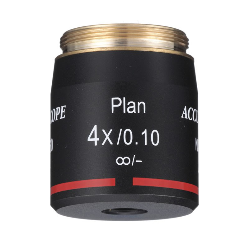 ACCU-SCOPE 4x Plan Brightfield Objective for EXC-500 Series - Infinity Corrected