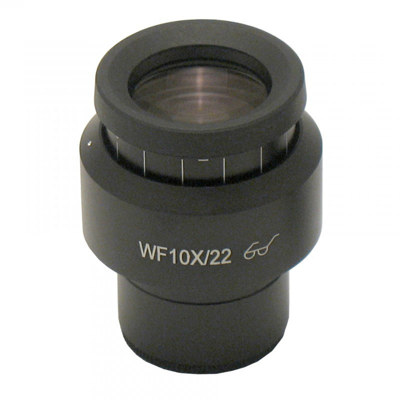 ACCU-SCOPE 75-3311-R WF10x/22 Focusing Eyepiece with 10mm/100 Division Reticle with Cross-Line, Single