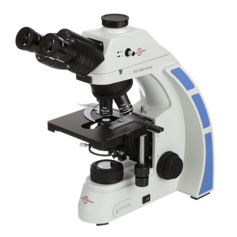 ACCU-SCOPE EXC-350-SPH Trinocular Phase Microscope, Slider Phase System