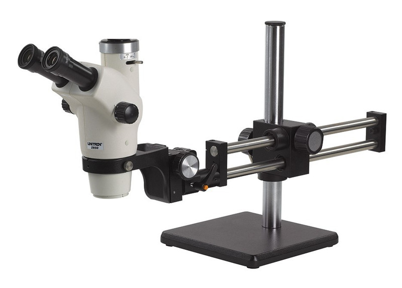 UNITRON 13436 Z650HR Trinocular Zoom Stereo Microscope on Ball Bearing Boom Stand, 6x-50x Magnification