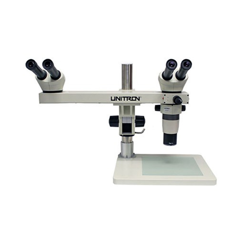 UNITRON 11150-DH Z6 Dual Head Discussion Zoom Stereo Microscope, 8x to 50x Magnification