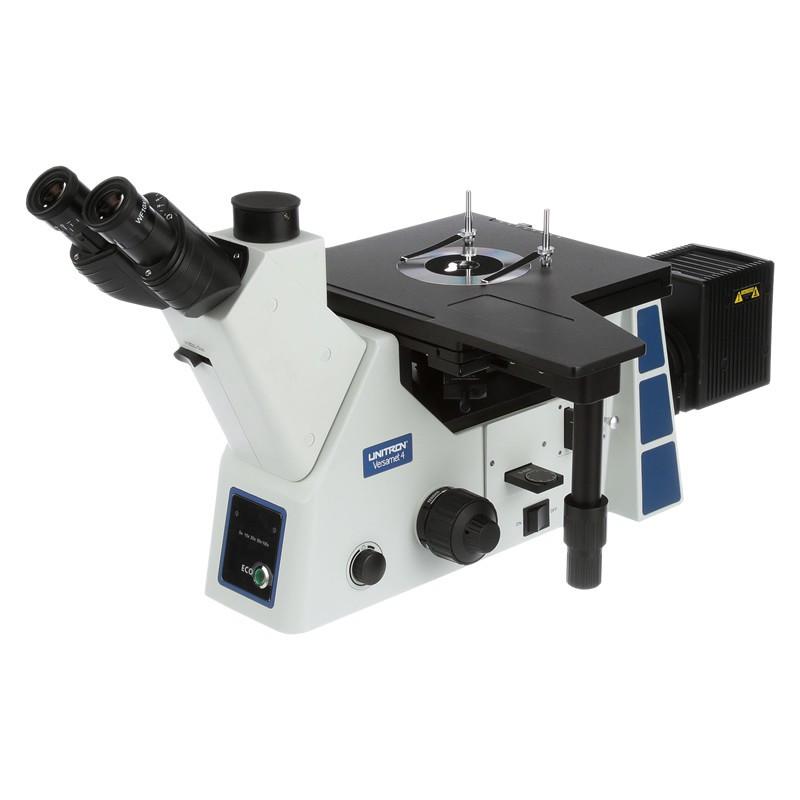 UNITRON 15000-BD Versamet 4 Inverted Metallurgical Microscope, Brightfield/Darkfield Objectives