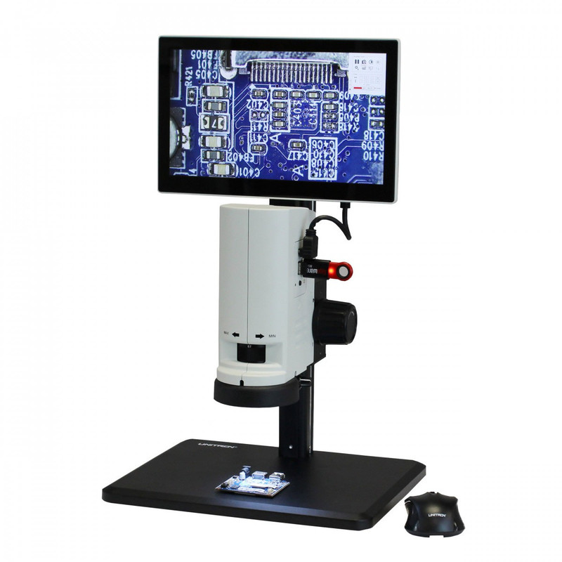 UNITRON 14711-TS ZoomHD Digital Macro Inspection System with Integrated Monitor on Track Stand