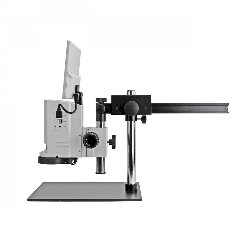 UNITRON 14711-GBS ZoomHD Digital Macro Inspection System with Integrated Monitor on Gliding Boom Stand