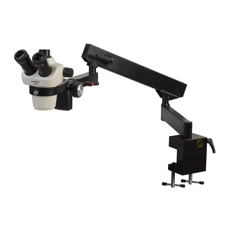 UNITRON 13237 Z730 Trinocular Zoom Stereo Microscope on Flex Arm Stand, 7x - 30x Magnification