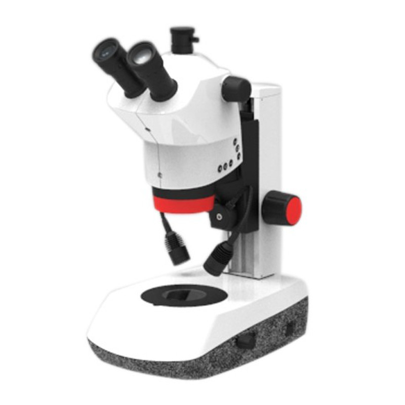 Labomed 4146400-800 Luxeo 6Z Trinocular Stereo Zoom Microscope, Mirror Base Stand, 8x to 50x Magnification