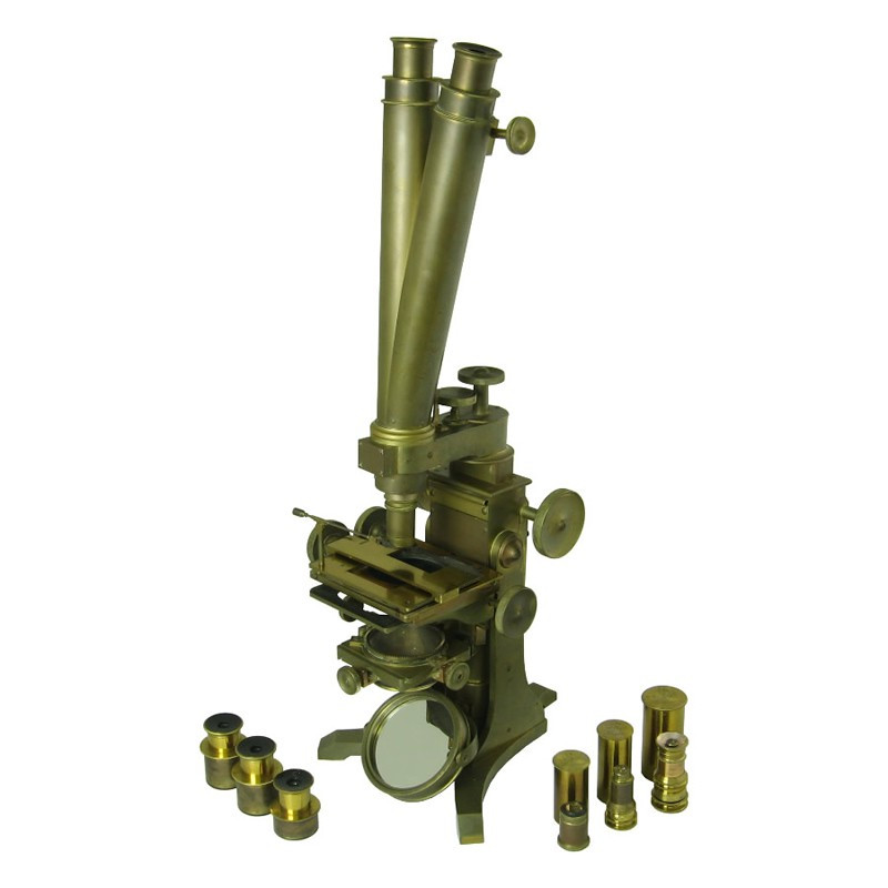 Andrew Ross Binocular Microscope - Antique