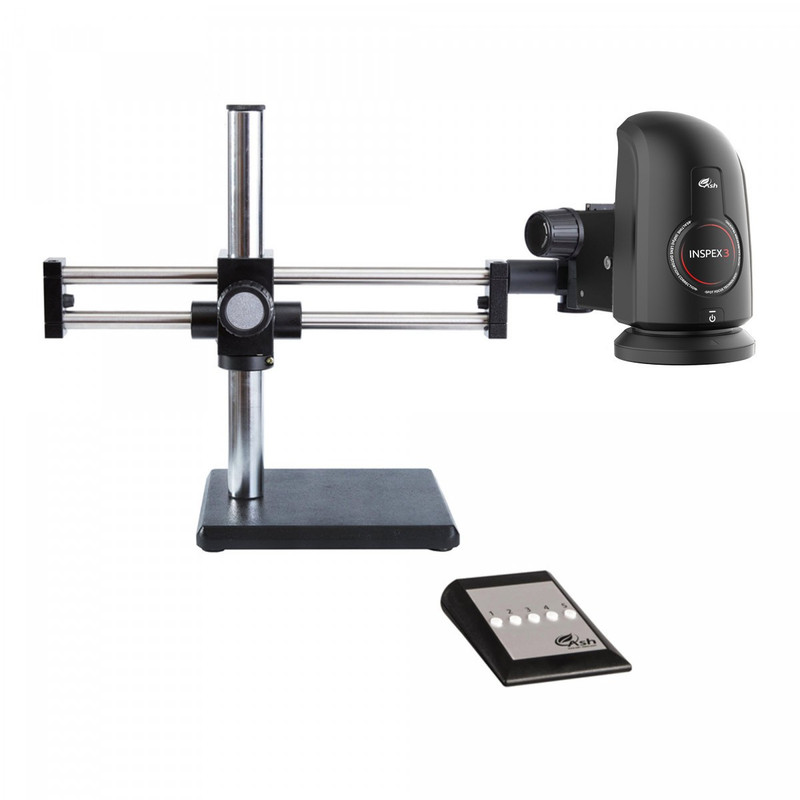 Ash Technologies INSPEX 3 Digital Microscope System on Ball Bearing Boom Stand