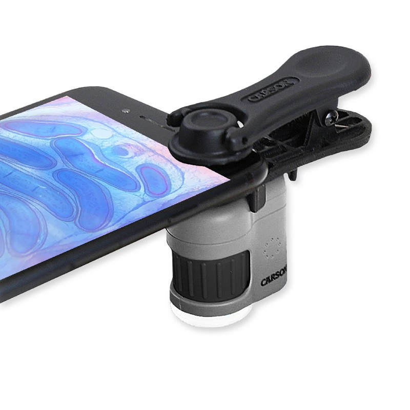 Carson MM-380 MicroMini HookUpz, 20x Microscope with Smart Phone Clip