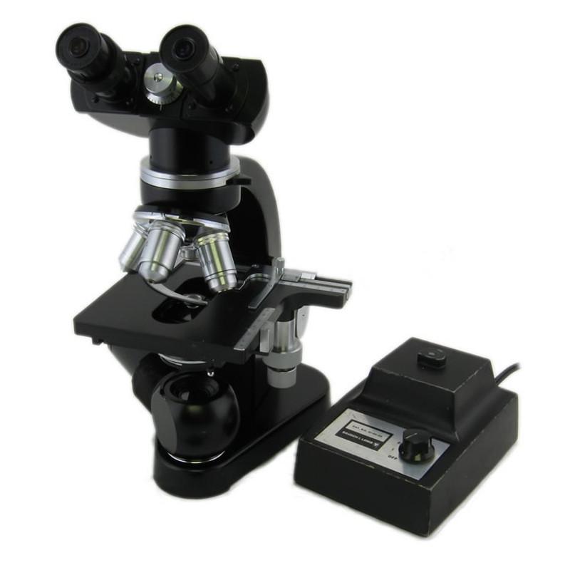 Ernst Leitz Wetzlar Binocular Microscope with Carry Case - Leitz Wetzlar 3.5x, 10x, 45x 100x - Vintage