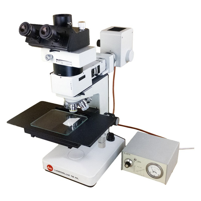 Leitz LABORLUX 12 HL Trinocular Metallurgical Microscope, Five Objectives, Reconditioned