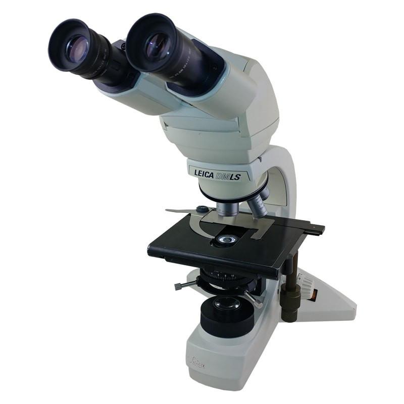 Leica DMLS Ergo Tilting Binocular Microscope, Three Objectives, Halogen Illumination - Reconditioned