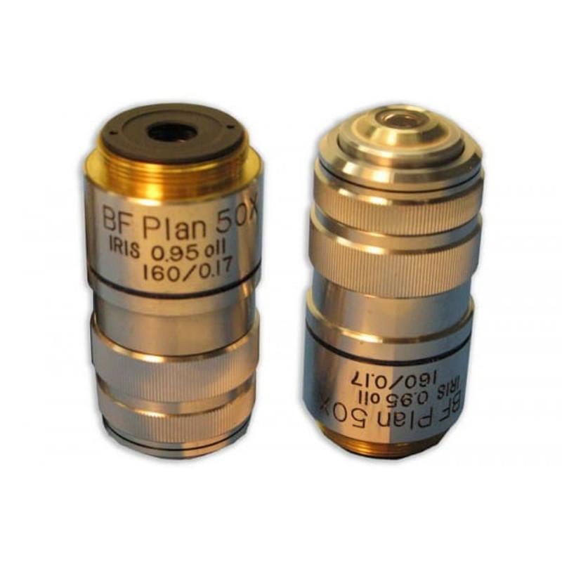 Meiji MA811 50x BF Semi Plan Achromat Oil Objective with Iris