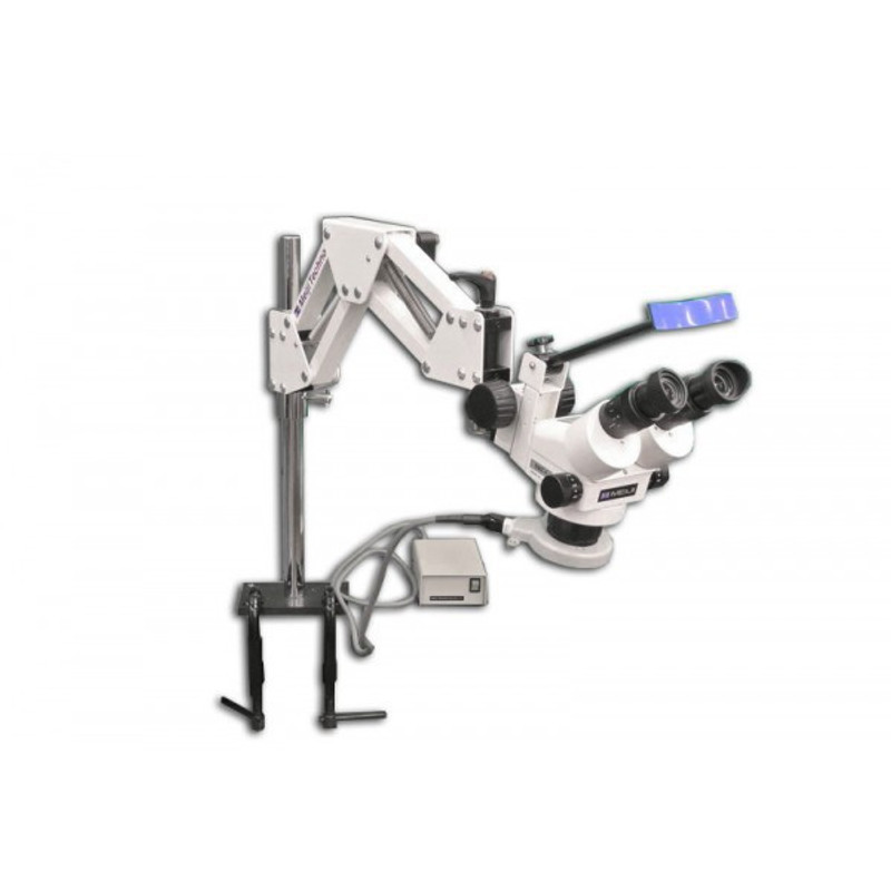 Meiji CREMZ-5 Binocular GEM Engraving Zoom Stereo Microscope on Articulated Arm Stand with Ring Fluorescent Illuminator, 7x - 90x Magnification