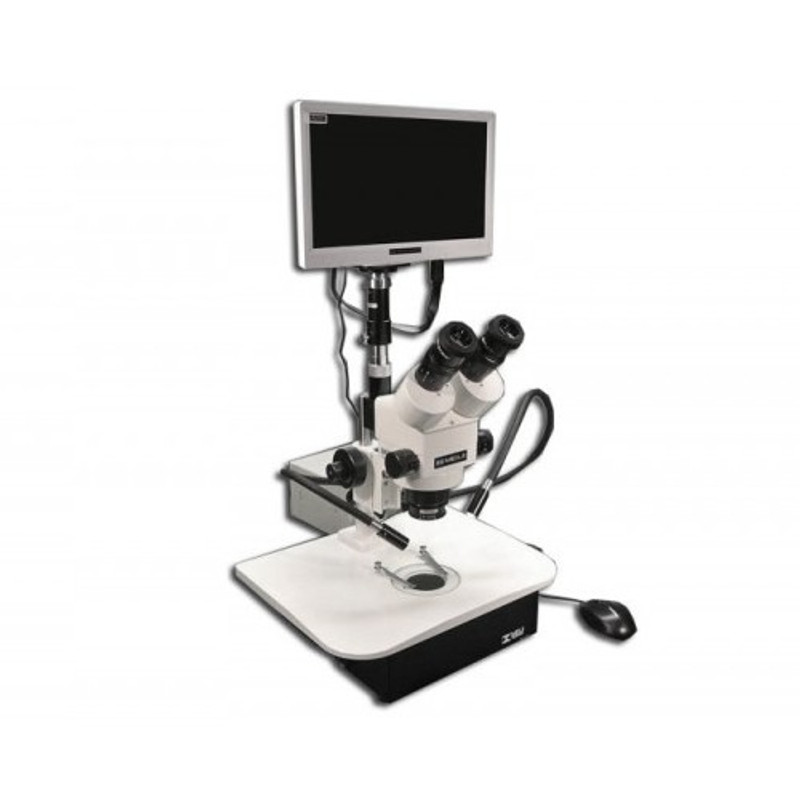 "Meiji IVF-8TR Trinocular In-Vitro Fertilization System Stereo Zoom Microscope with HD1500TM 6MP Color HD Camera & 11.6"" HDMI Monitor"