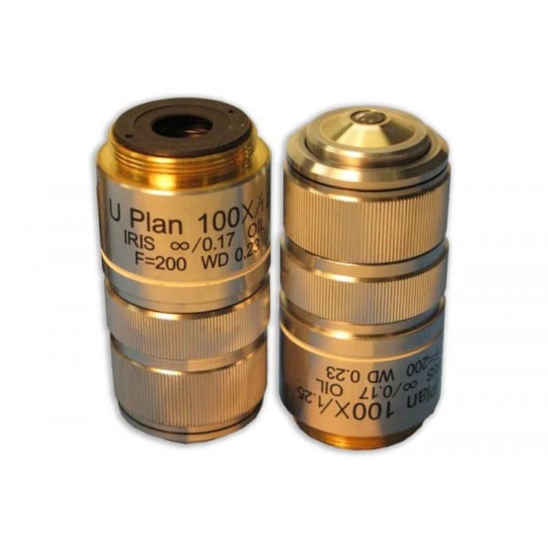 Meiji MA838 100x Oil Plan Semi Apochromat Objective with Iris for MT4000D, MT5000, MT5000D, MT6000, MT6500 Series