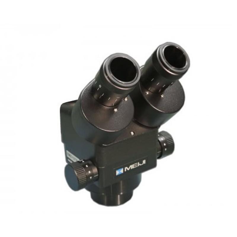 Meiji EMZ-13H/BLACK Binocular Zoom Stereo Head, High Eyepoint, 1x - 7x Zoom Range