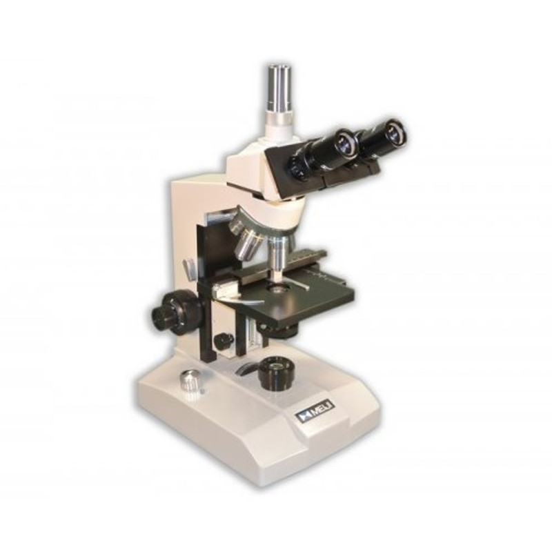 Meiji ML2300L LED Trinocular Brightfield Biological Microscope, Attached Mechanical Stage