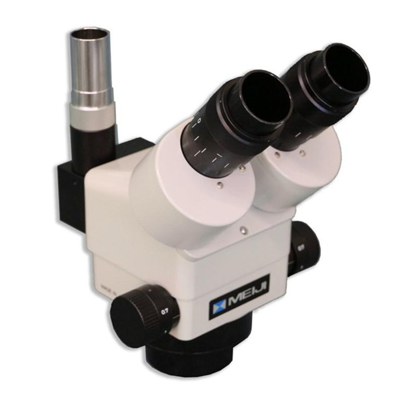 Meiji EMZ-13TRD Trinocular Zoom Stereo Head with Detent, 1.0x - 7x Zoom Range