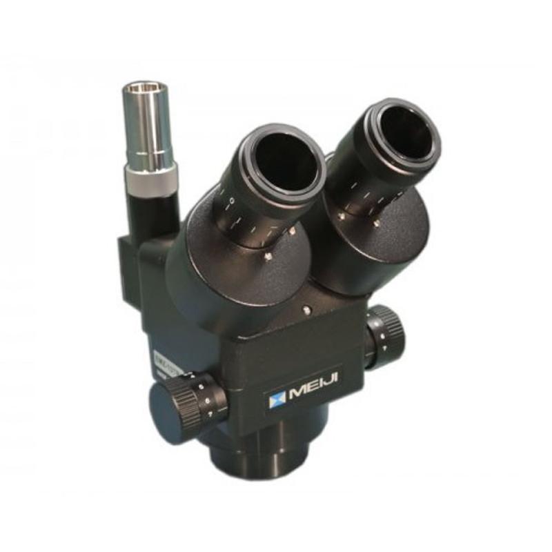 Meiji EMZ-13TRH/BLACK Trinocular Zoom Stereo Head, High Eyepoint, 1x - 7x Zoom Range