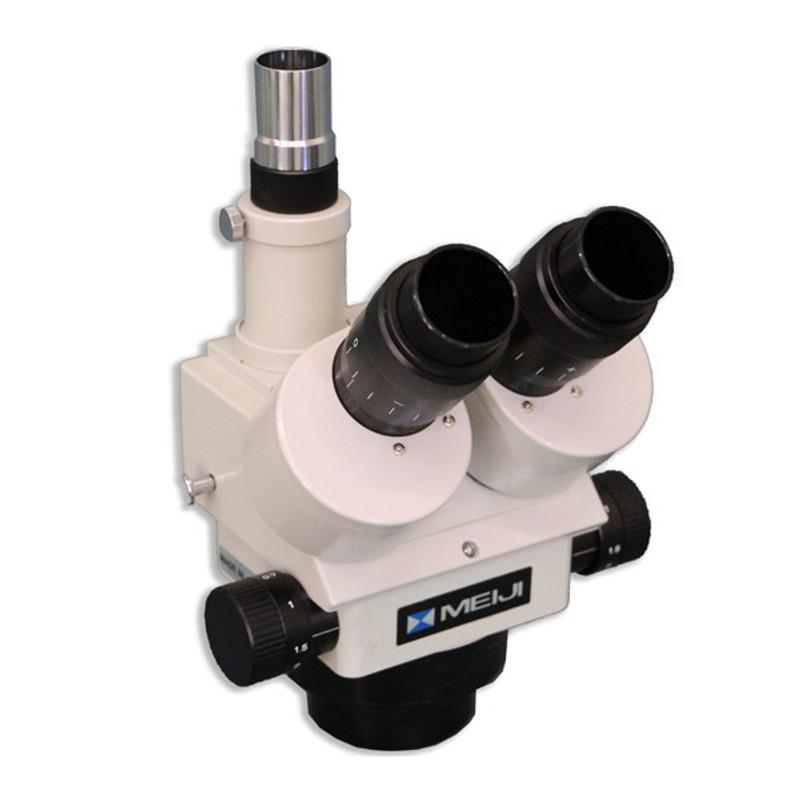 Meiji EMZ-5TRD Trinocular Zoom Stereo Head with Detent, 0.7x - 4.5x Zoom Range
