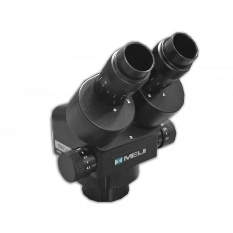 Meiji EMZ-5/BLACK Binocular Zoom Stereo Head, 0.7x - 4.5x Zoom Range