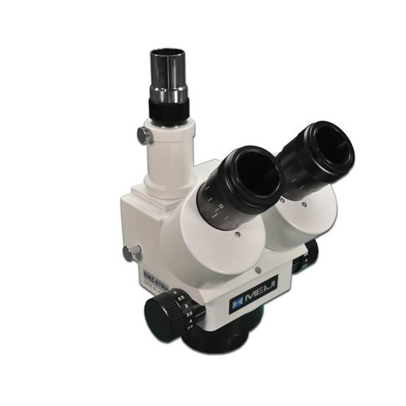 Meiji EMZ-5TRH Trinocular Zoom Stereo Head, High Eyepoint, 0.7x - 4.5x Zoom Range