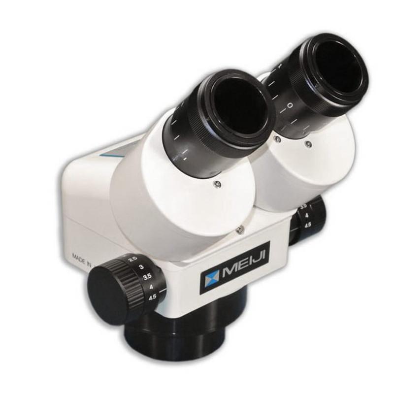 Meiji EMZ-5HD Binocular Zoom Stereo Head with Detent, High Eyepoint, 0.7x - 4.5x Zoom Range