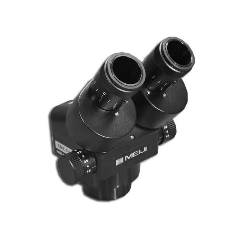 Meiji EMZ-5H/BLACK Binocular Zoom Stereo Head, High Eyepoint, 0.7x - 4.5x Zoom Range