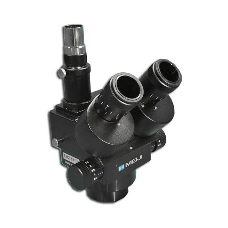 Meiji EMZ-5TRH/BLACK Trinocular Zoom Stereo Head, High Eyepoint, 0.7x - 4.5x Zoom Range