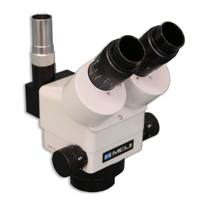 Meiji EMZ-8TRUD Trinocular Zoom Stereo Head with Top Light Port, Detent, 0.7x - 4.5x Zoom Range