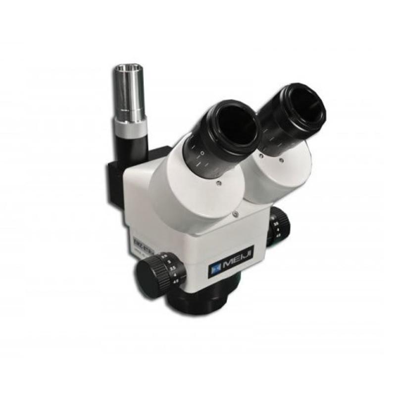 Meiji EMZ-8TRHD Trinocular Zoom Stereo Head with Detent, High Eyepoint, 0.7x - 4.5x Zoom Range