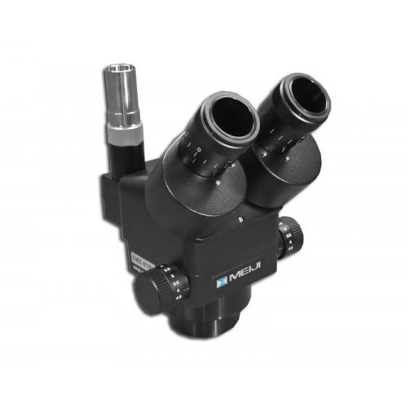 Meiji EMZ-8TRH/BLACK Trinocular Zoom Stereo Head, High Eyepoint, 0.7x - 4.5x Zoom Range