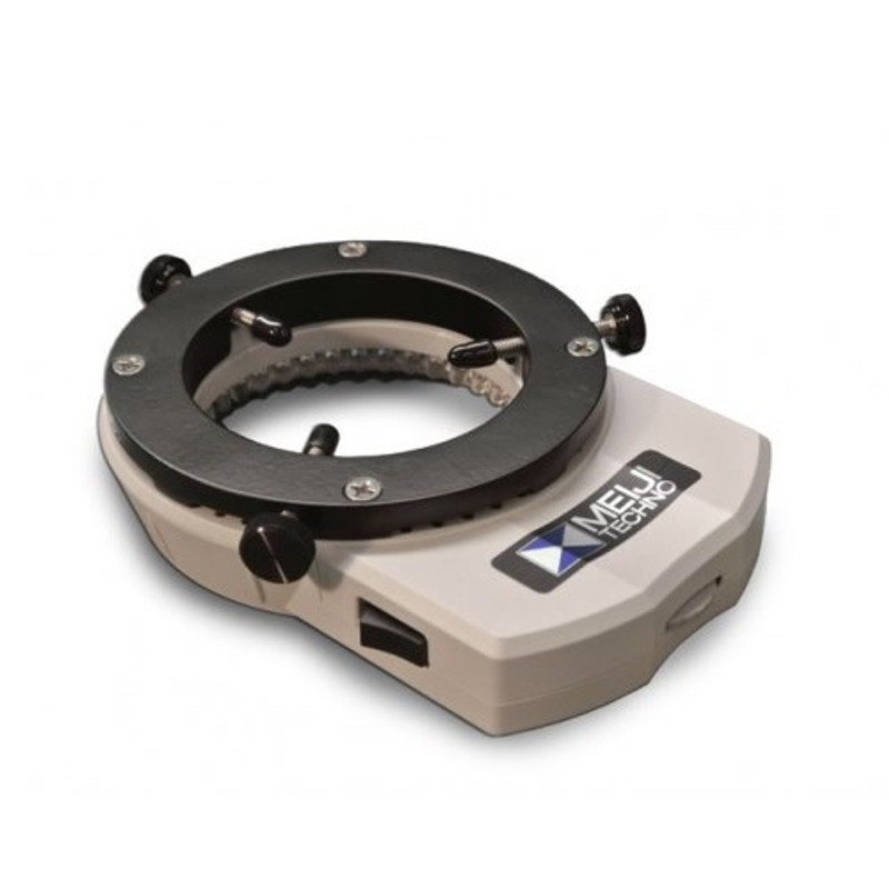 Meiji MA961W/S/ESD Warm White Slim Control LED Ring Illuminator