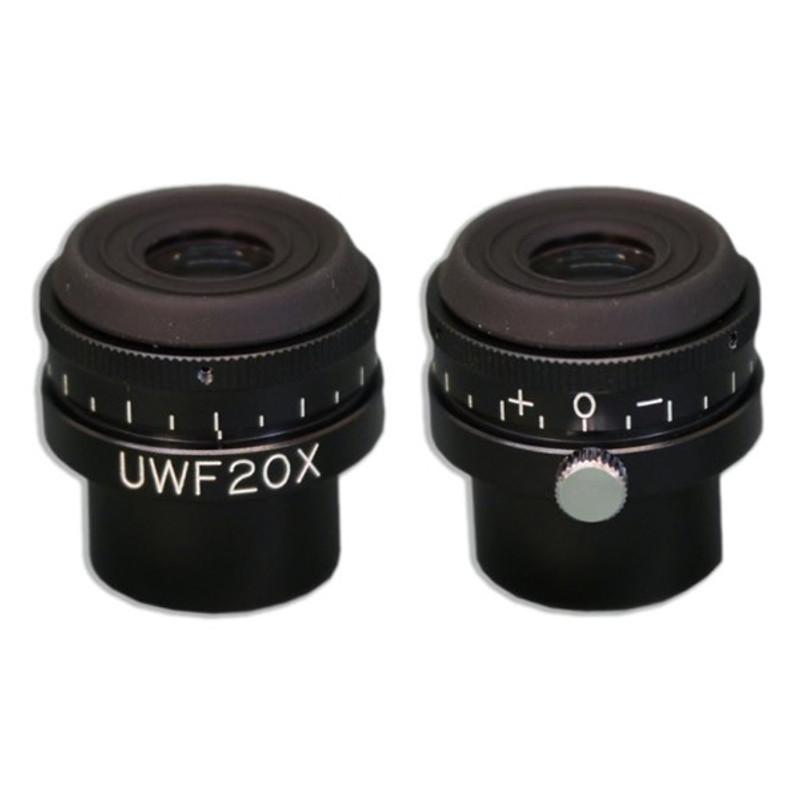 Meiji MA735 20x Ultra Widefield Eyepiece with Cross-Line Reticle, Single