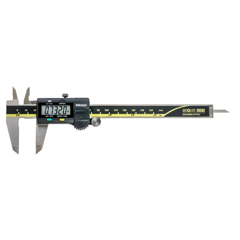 """Mitutoyo 500-196-30 AOS Absolute Digimatic Caliper, Precision Measuring Tool, 6""""/150mm, without Output"""