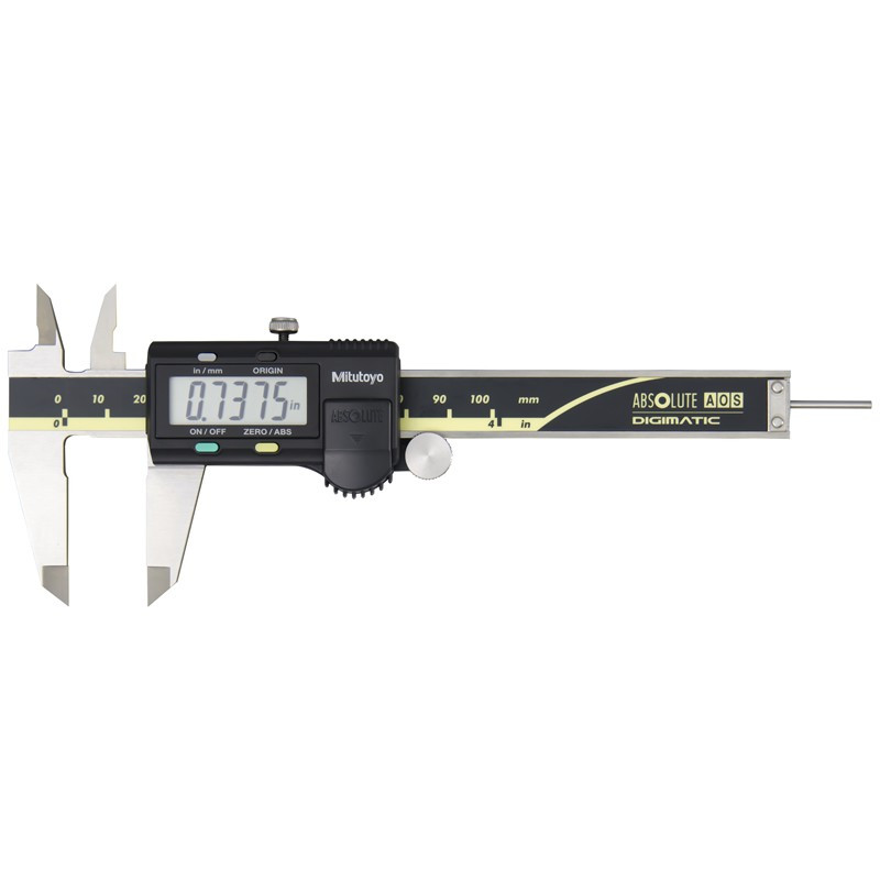 """Mitutoyo 500-195-30 AOS Absolute Digimatic Caliper, Precision Measuring Tool, 4""""/100mm, without Output"""