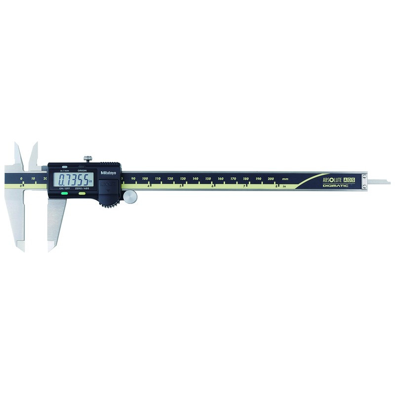 """Mitutoyo 500-197-30 AOS Absolute Digimatic Caliper, Precision Measuring Tool, 8""""/200mm, without Output"""
