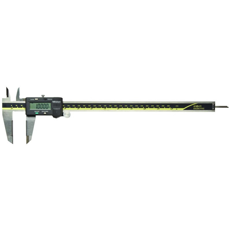 """Mitutoyo 500-167-30 AOS Absolute Digimatic Caliper, Precision Measuring Tool, 12""""/300mm, with Output, Carbide OD Jaws"""