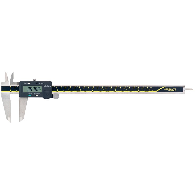 """Mitutoyo 500-166-30 AOS Absolute Digimatic Caliper, Precision Measuring Tool, 12""""/300mm, without Output, Carbide OD/ID Jaws"""