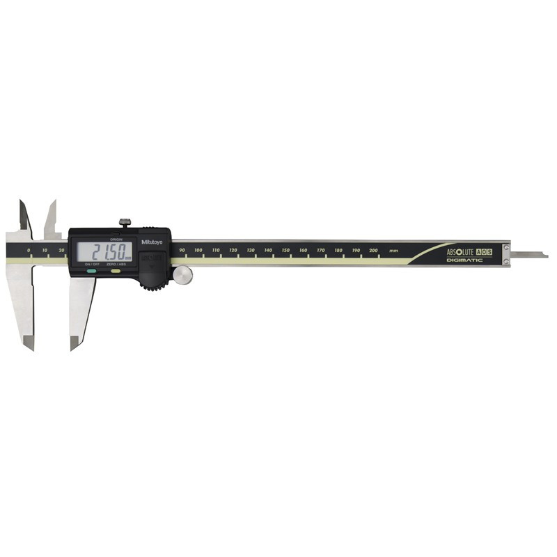 Mitutoyo 500-156-30 AOS Absolute Digimatic Caliper, Precision Measuring Tool, 200mm, with Output, Carbide OD Jaws