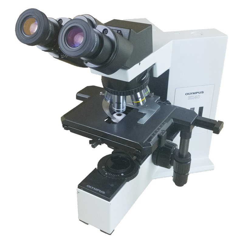 Olympus BX40 Binocular Microscope, Four Objectives, Reconditioned