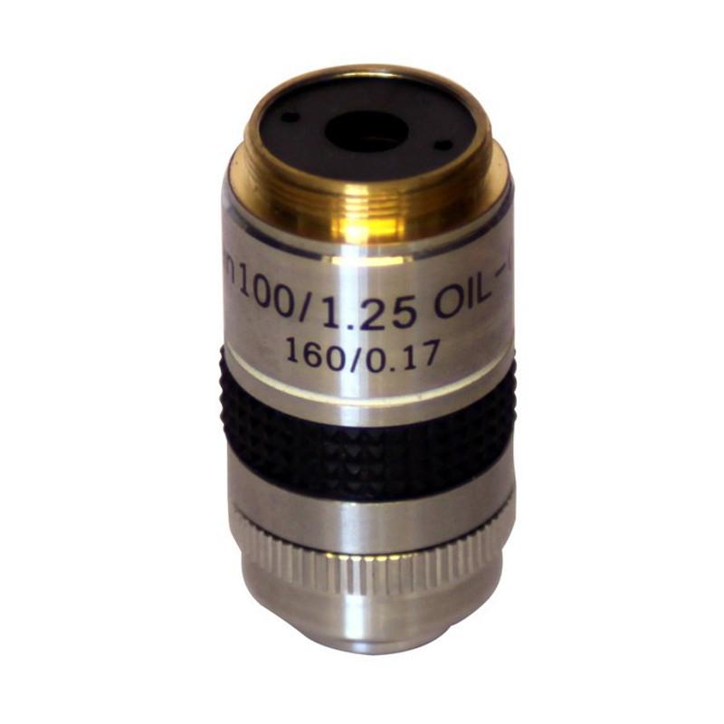 OPTIKA M-059 100x/1.25 W-PLAN Oil Objective with Iris Diaphragm For Darkfield